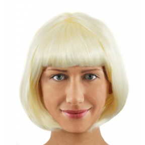 Blonde Bob Wig with Fringe