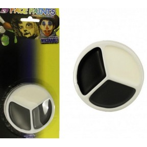 3 Pack Face Paint - Black, White and Grey