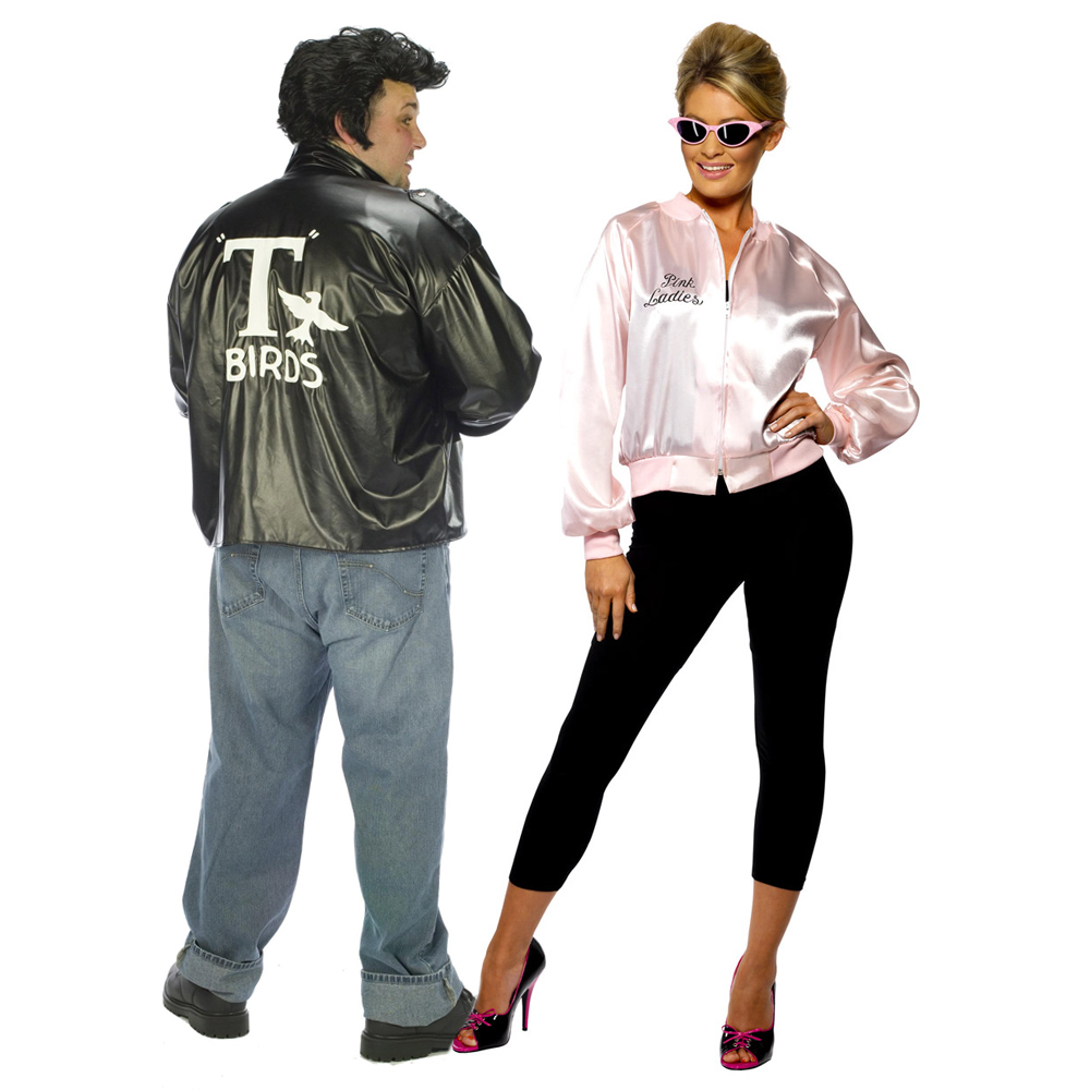 The Ladies Costume Includes a Licensed Pink Satin Jacket with Zip-Up Front and Logo on Botht the Front and the Back!  sc 1 st  I Love Fancy Dress & Couples Fancy Dress Costumes!
