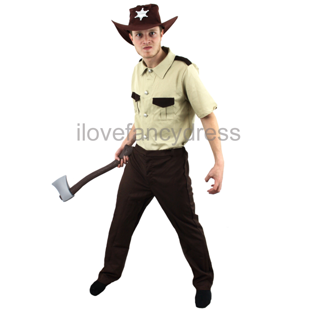 results for american police costume See more like this American Cop Mens Fancy Dress US Police Officer Uniform Adults Costume Outfit. US SHERIFF COSTUME HALLOWEEN ZOMBIE HUNTER FANCY DRESS AMERICAN POLICE OFFICER. Brand new. £ to £ + £ postage; + Sold.