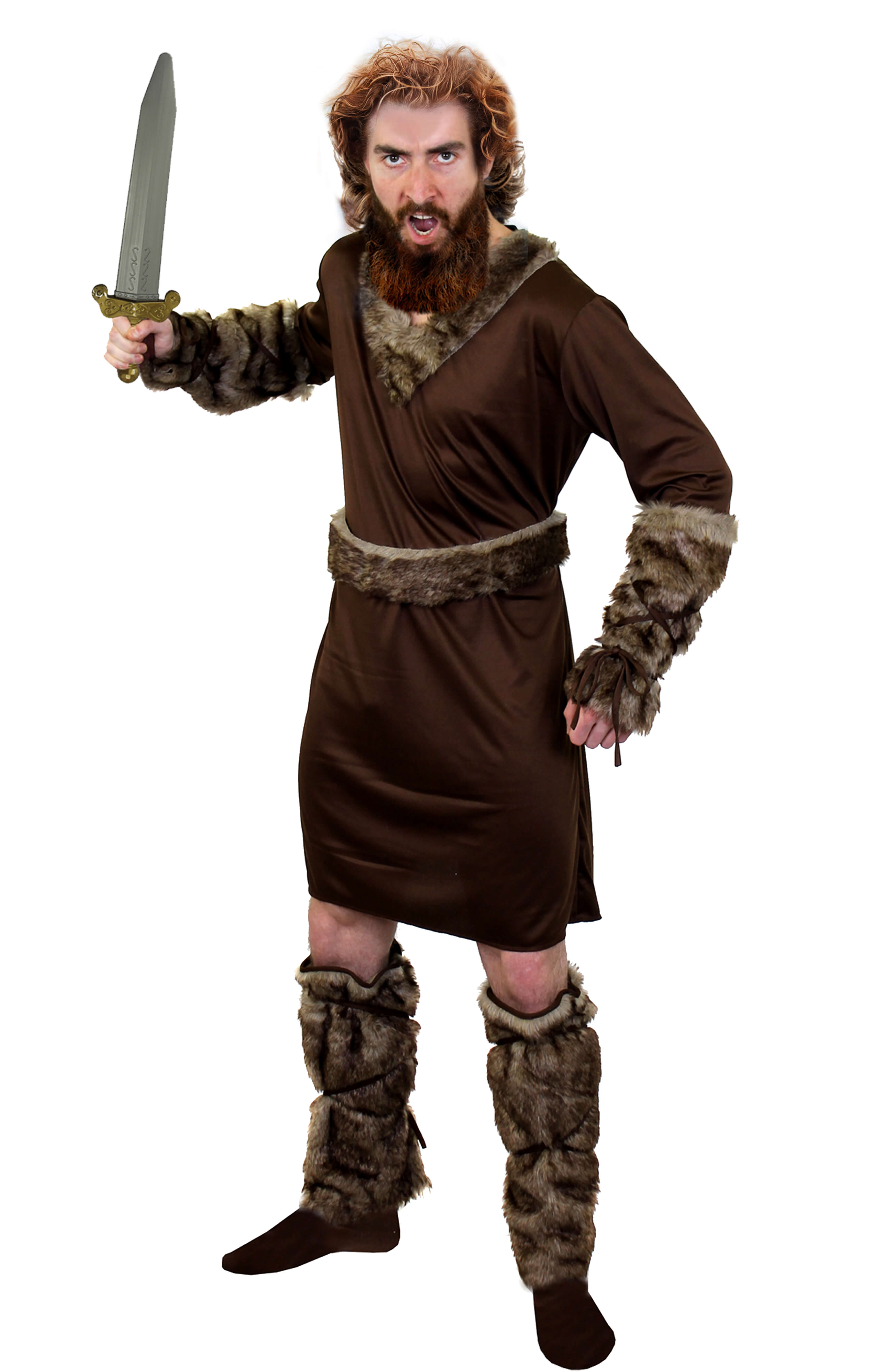 Adults Viking Costume with Viking Helmet + Sword - I Love Fa