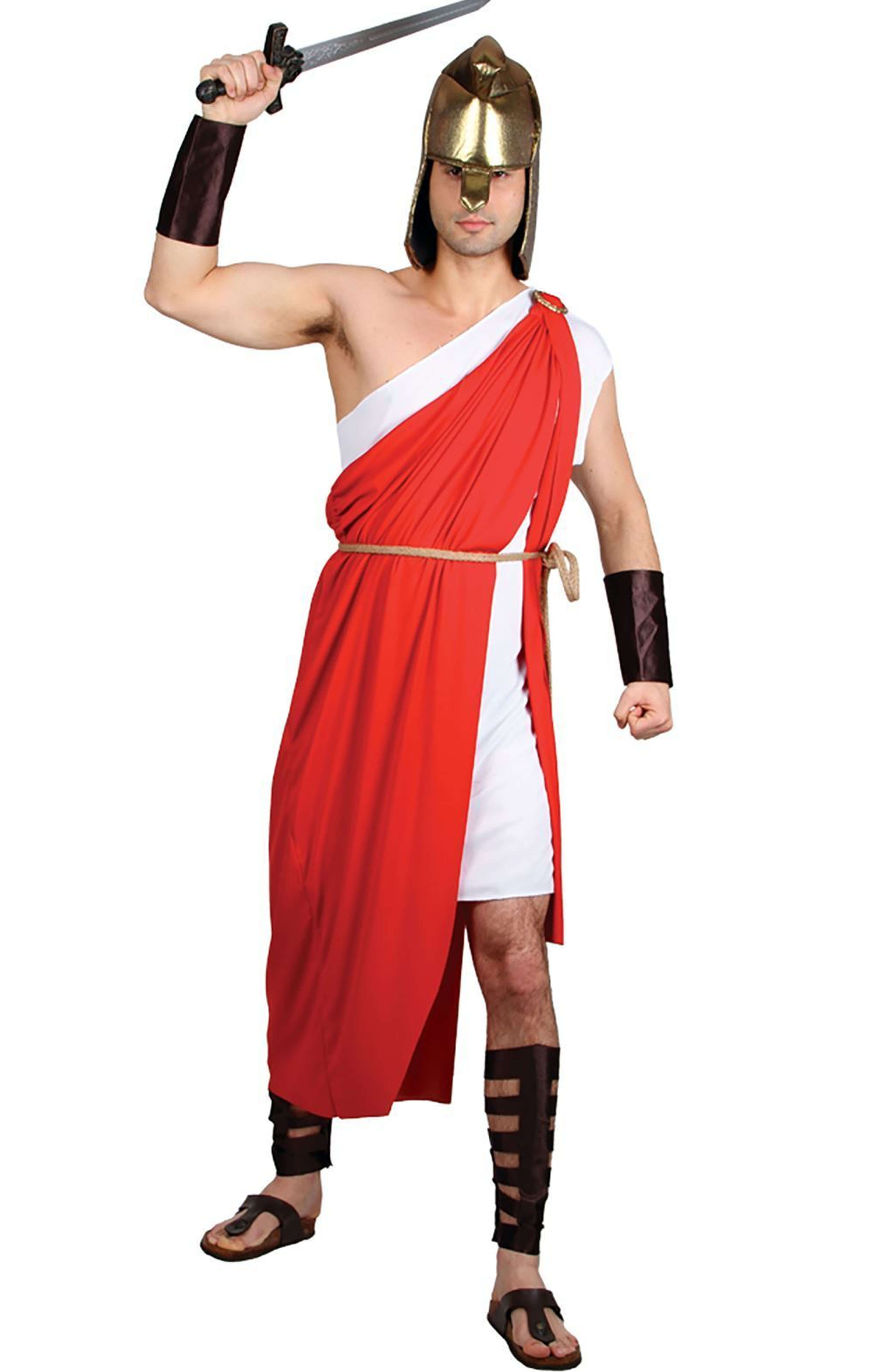 Mens Spartan Warrior Costume I Love Fancy Dress