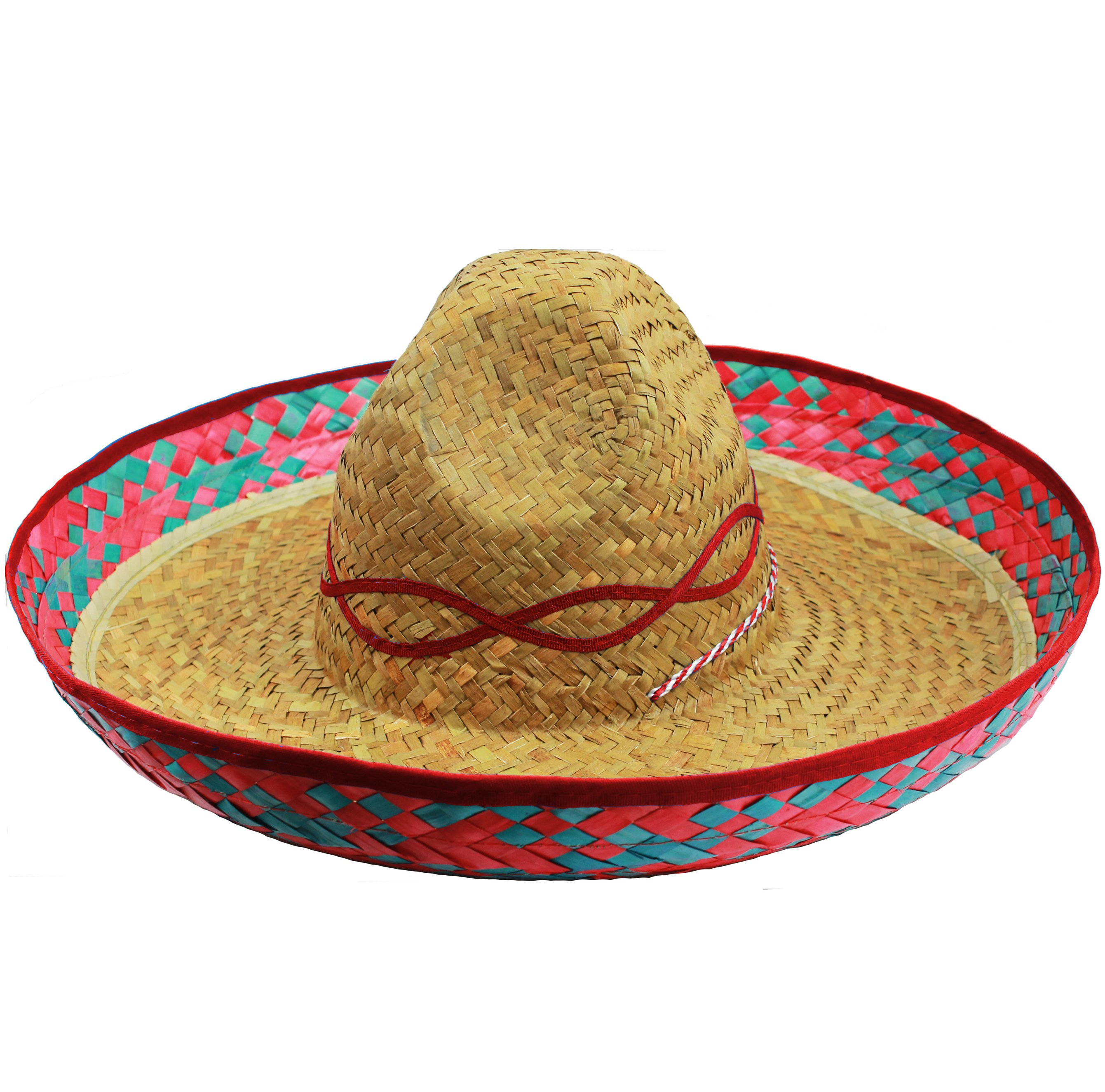 mayor descuento gran descuento costo moderado Mexican Sombrero Straw Hat with Red Design