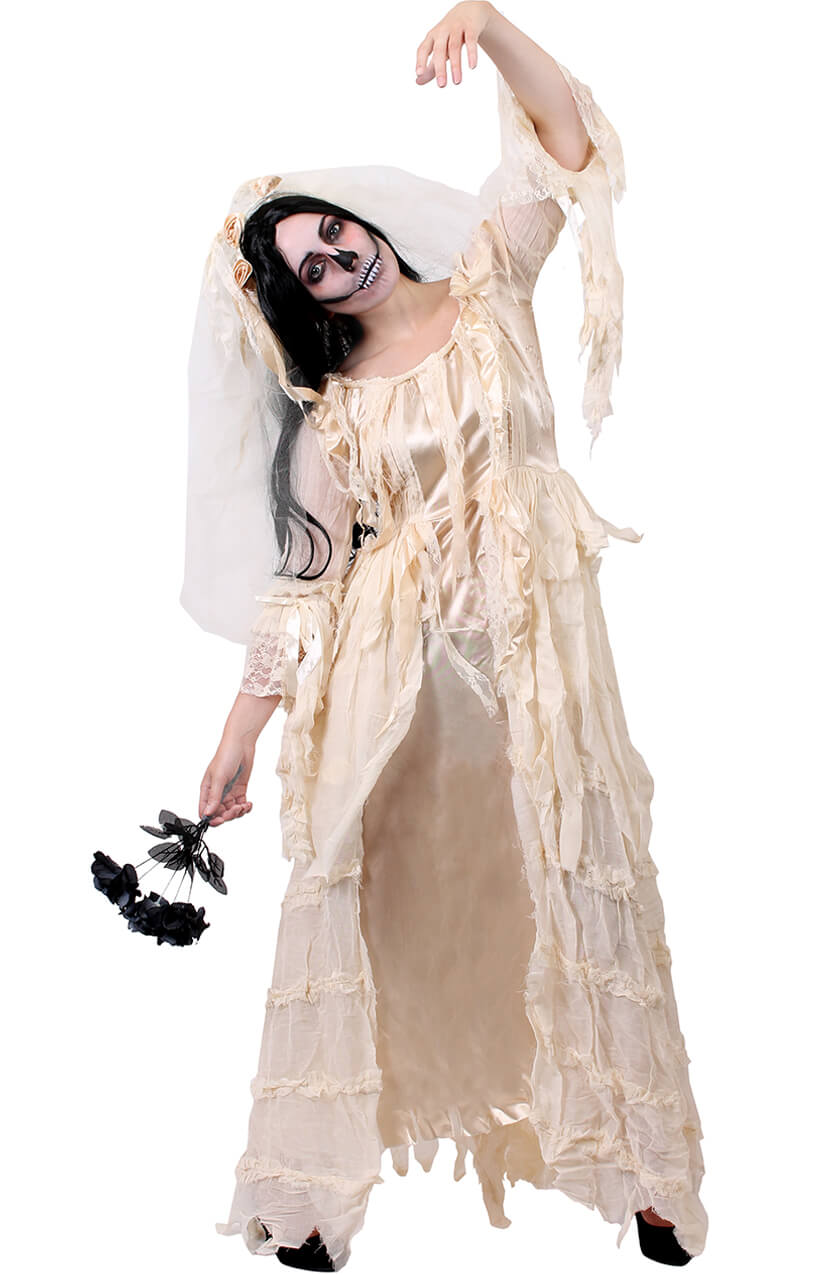 7aab18da728b Ladies Victorian Ghost Bride - I Love Fancy Dress