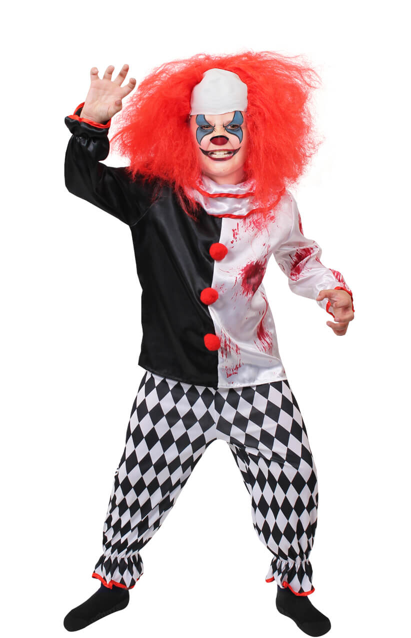 Boys Killer Clown Costume I Love Fancy Dress