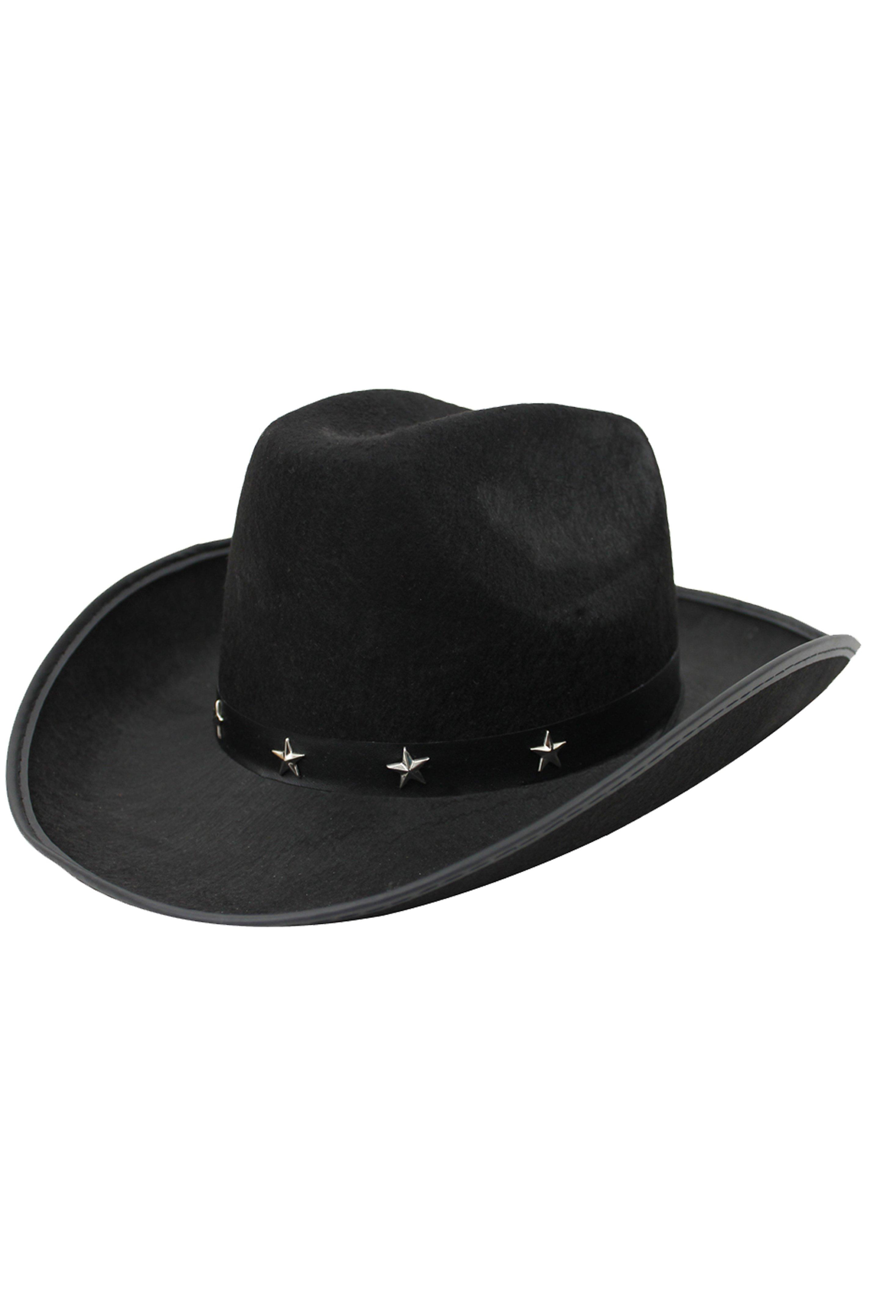 89e3212120b Black Star Studded Cowboy Hat - I Love Fancy Dress