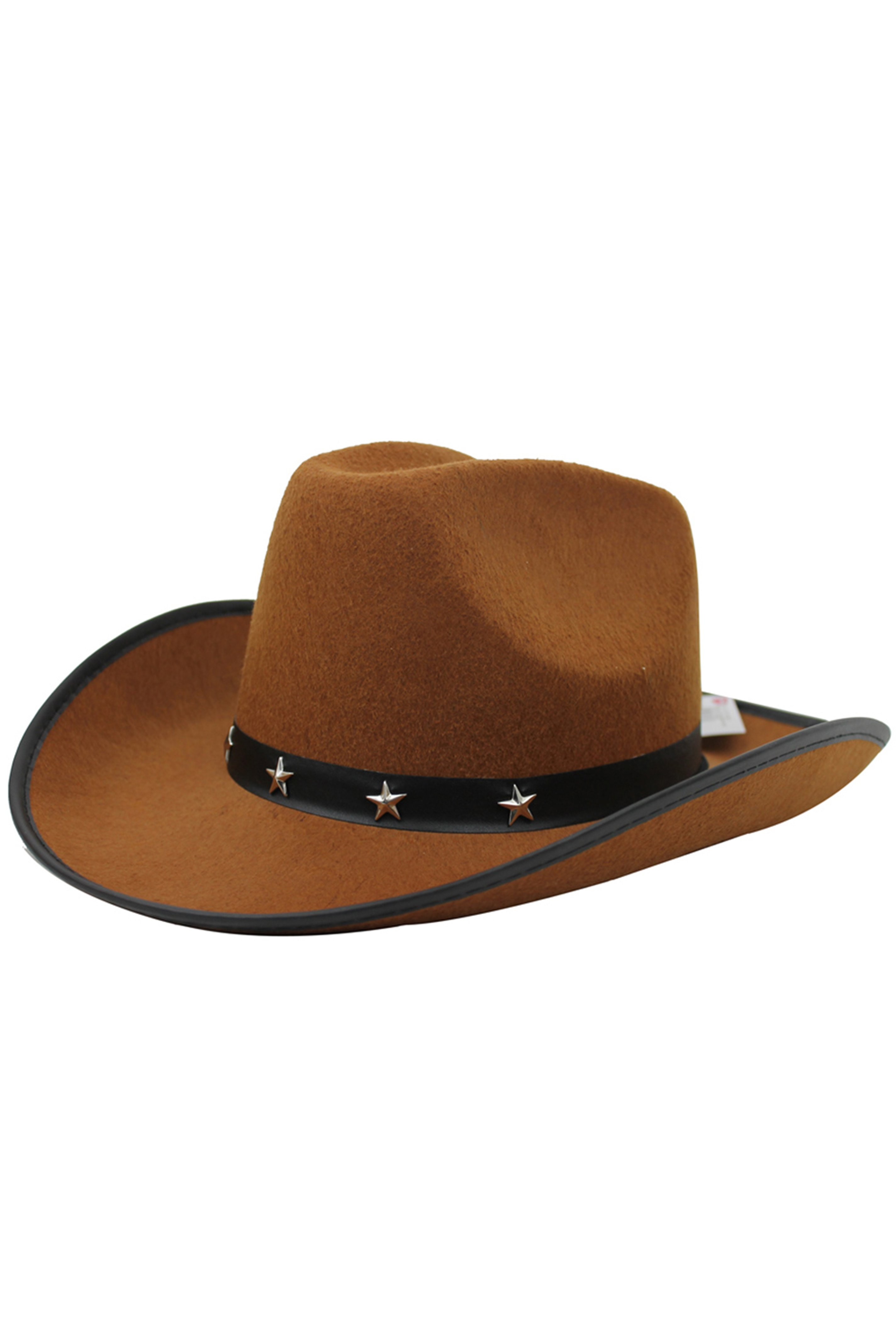Brown Star Studded Cowboy Hat - I Love Fancy Dress 5a193c5311e9