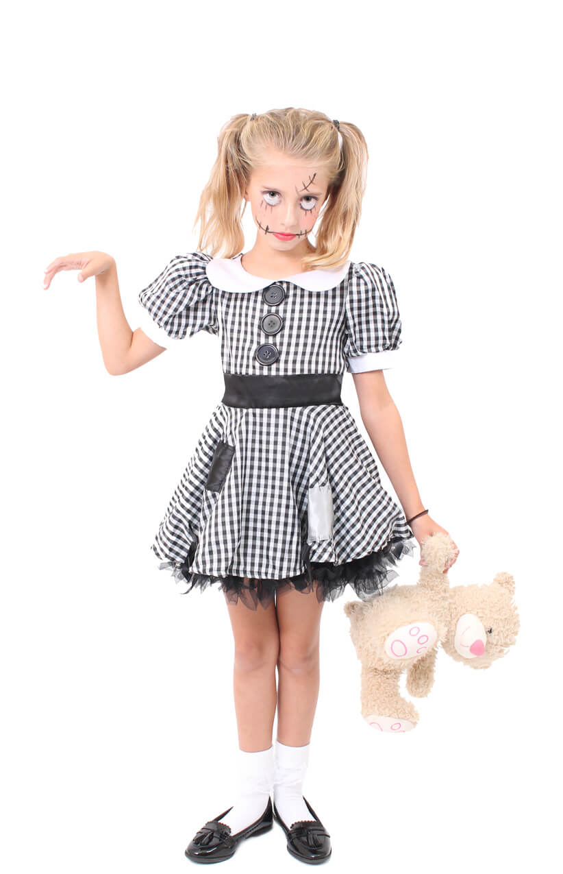 Girls Creepy Doll Costume I Love Fancy Dress