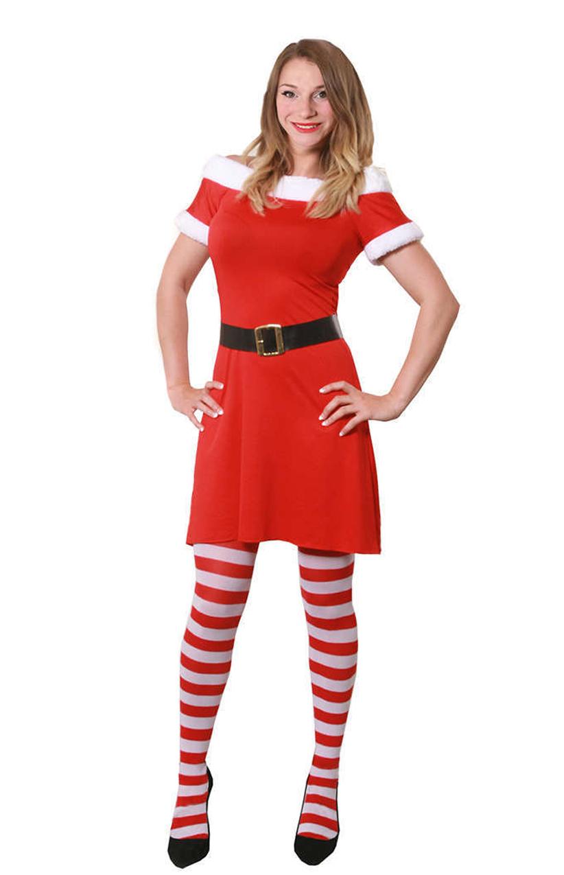 Christmas Dress.Ladies Miss Santa Christmas Dress