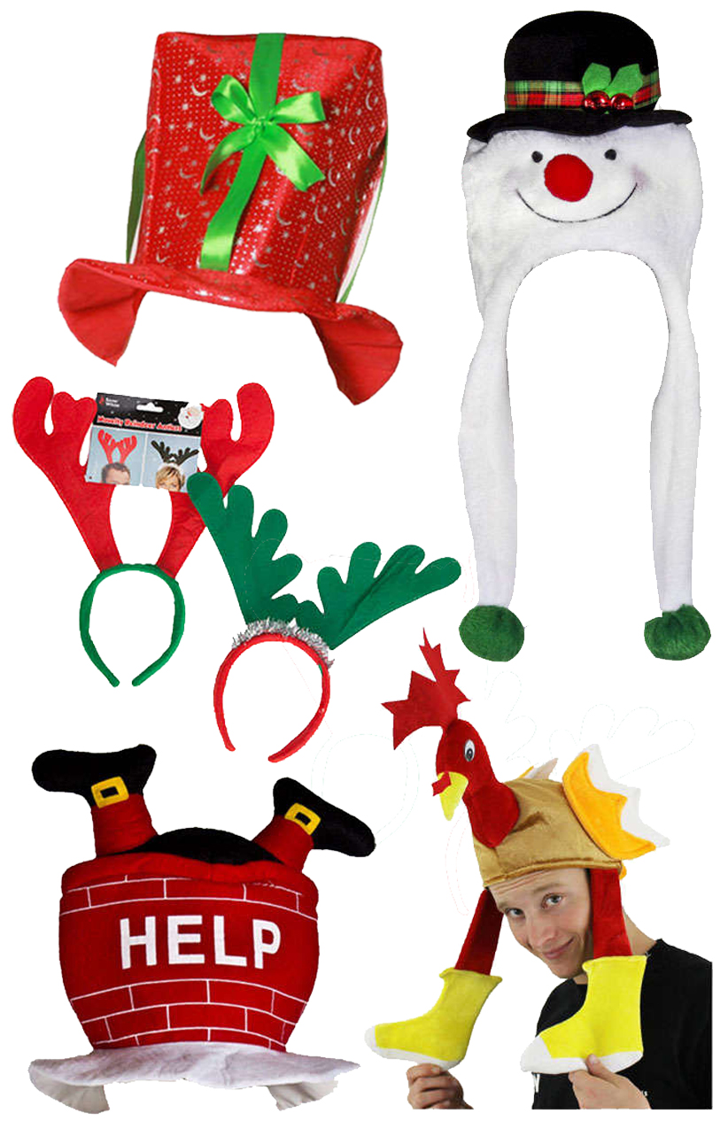 Christmas Hats.5 Pack Christmas Hat