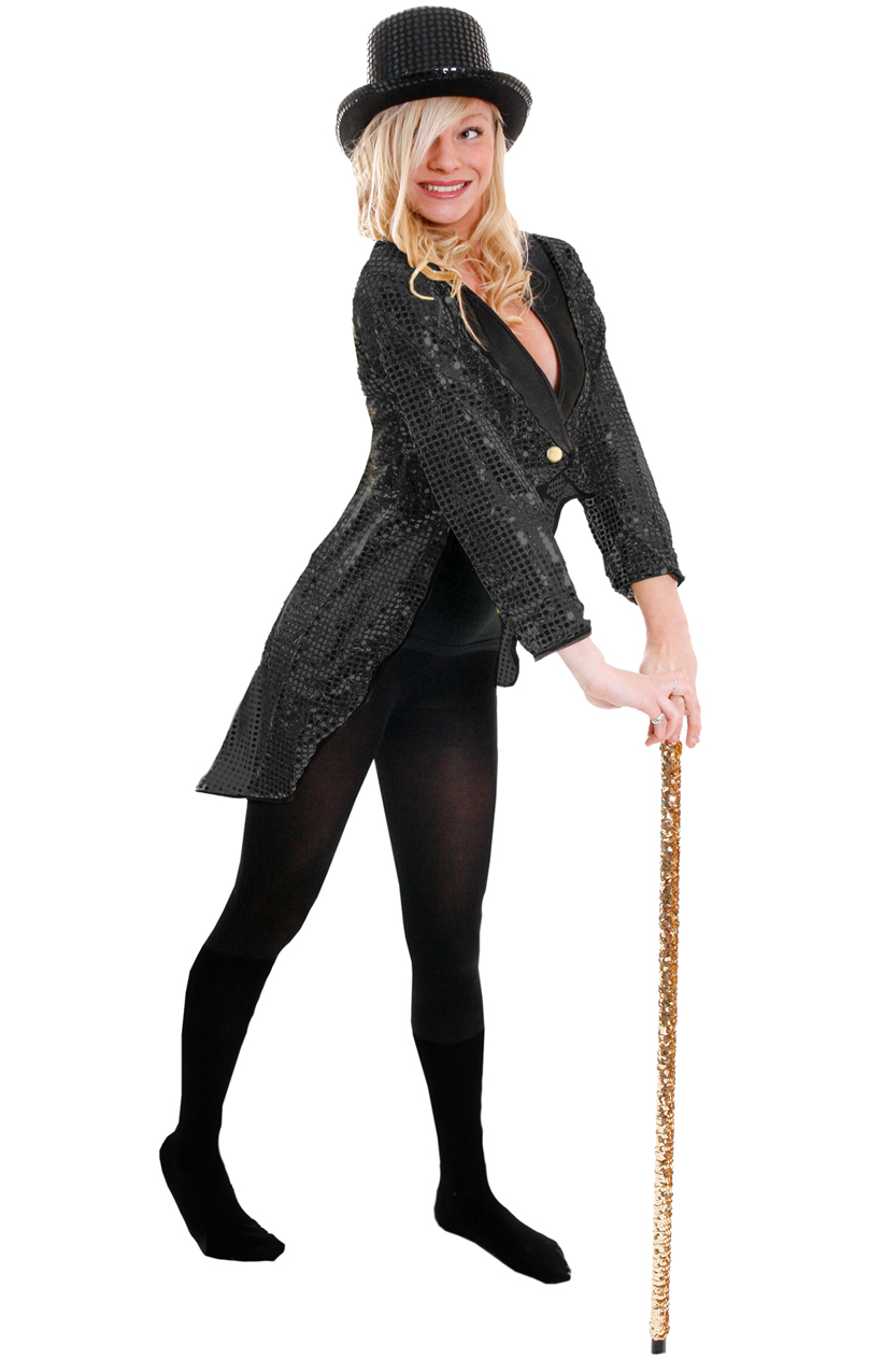 2b89aea55cf17 Black Sequin Top Hat - I Love Fancy Dress