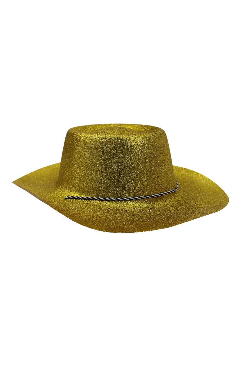 1744306067637 Gold Glitter Cowboy Hat - I Love Fancy Dress