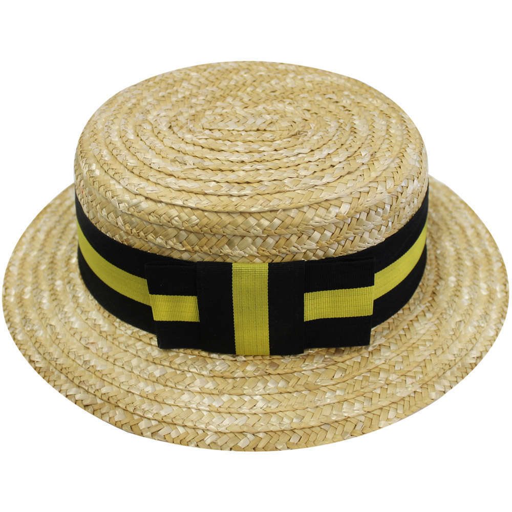 21b771364e3a8 Adult Yellow   Black Straw Boater - I Love Fancy Dress