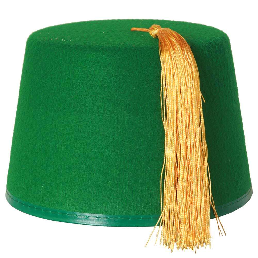 166ed1dfdf883 Deluxe Green Fez Hat - I Love Fancy Dress