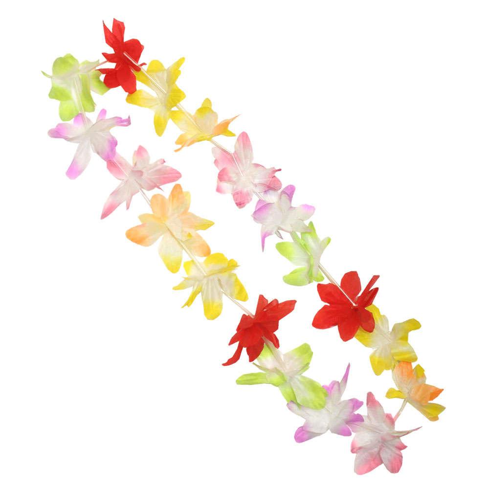 Budget Hawaiian Flower Lei I Love Fancy Dress