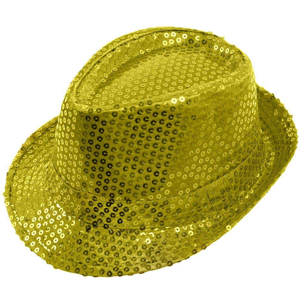 Gold Sequin Fedora Hat b4fc60df413e