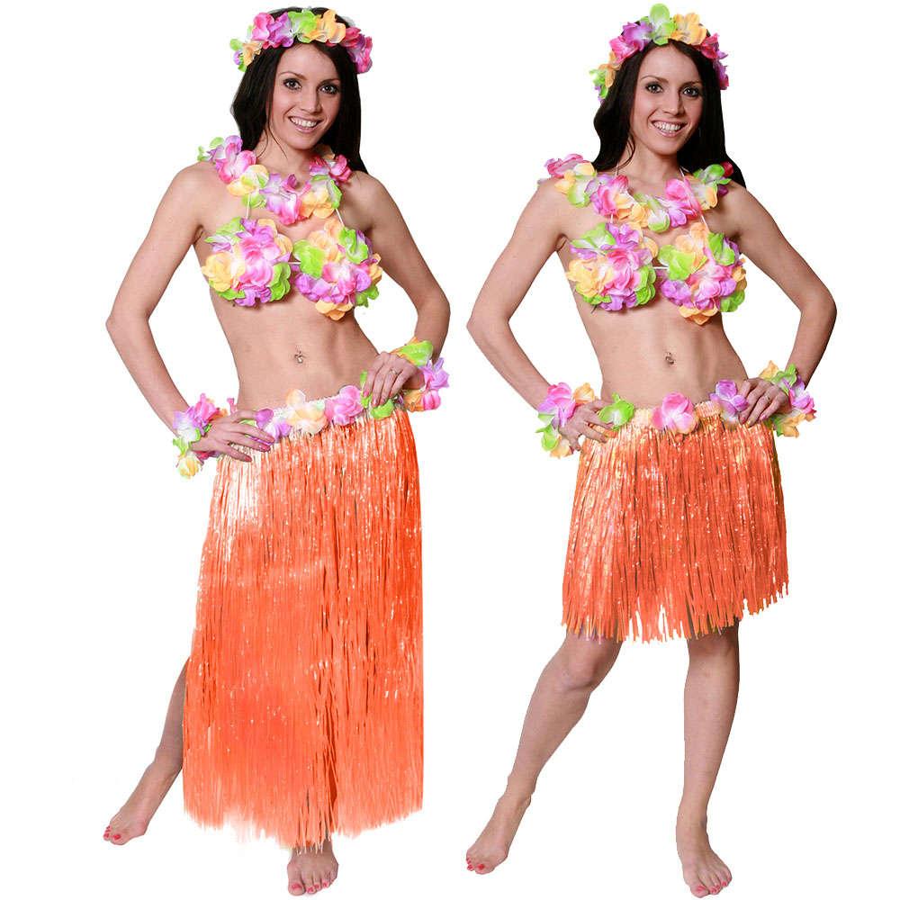 de9ec20e3 Orange Hawaiian Hula Skirt - I Love Fancy Dress