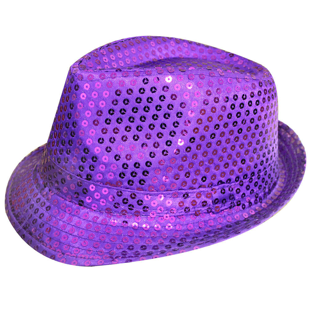 Purple Sequin Fedora Hat 3e4570f2ca5c