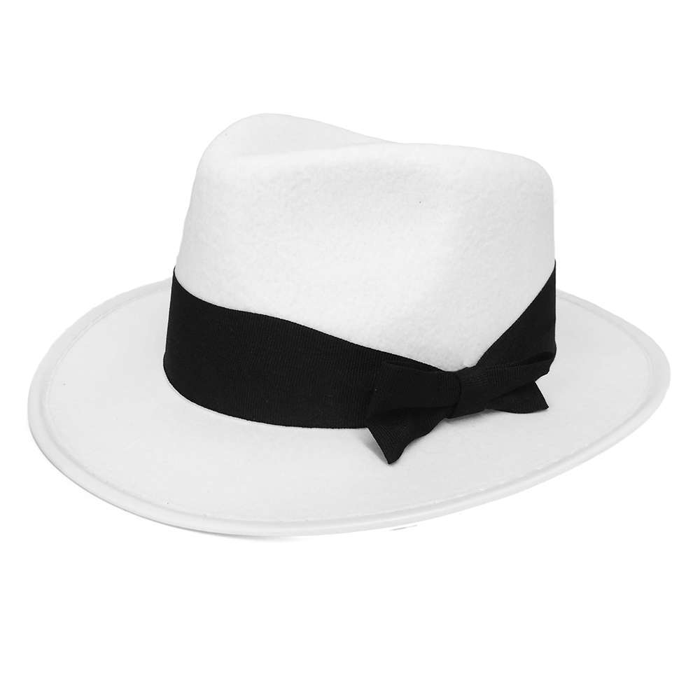 White Trilby with Black Band - I Love Fancy Dress f1466e49ea9