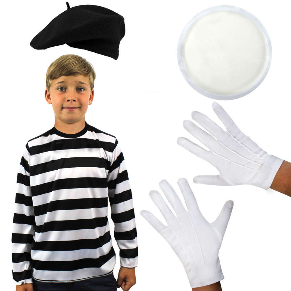 Childs French Mime Costume - Black  sc 1 st  I Love Fancy Dress & Childs French Mime Costume - Black - I Love Fancy Dress