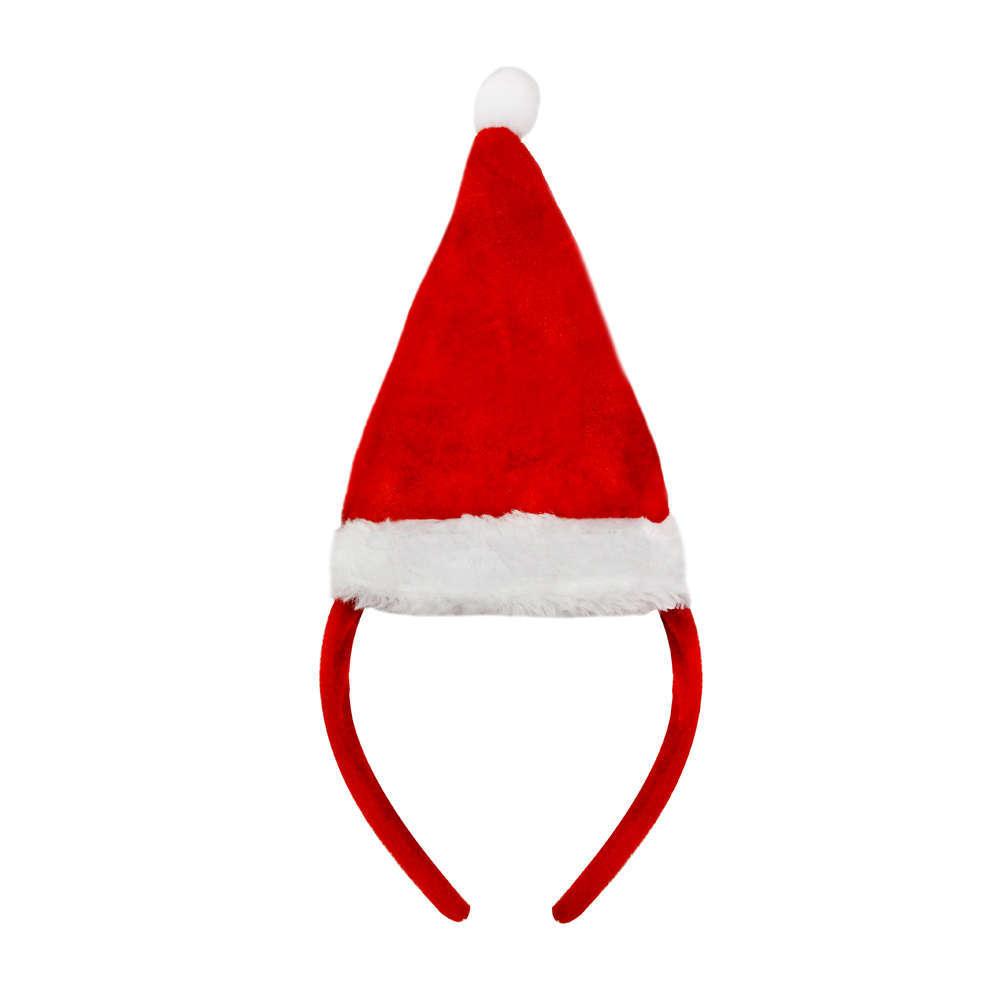 ad826d189b06d Mini Santa Hat on Headband - I Love Fancy Dress