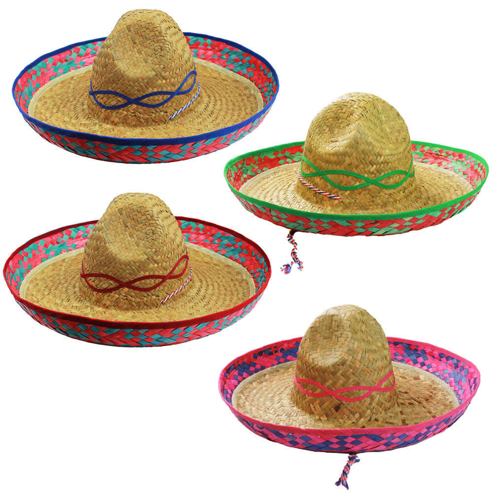 Mexican Sombrero (Party-Packs) - I Love Fancy Dress b9ccaf56f2ae