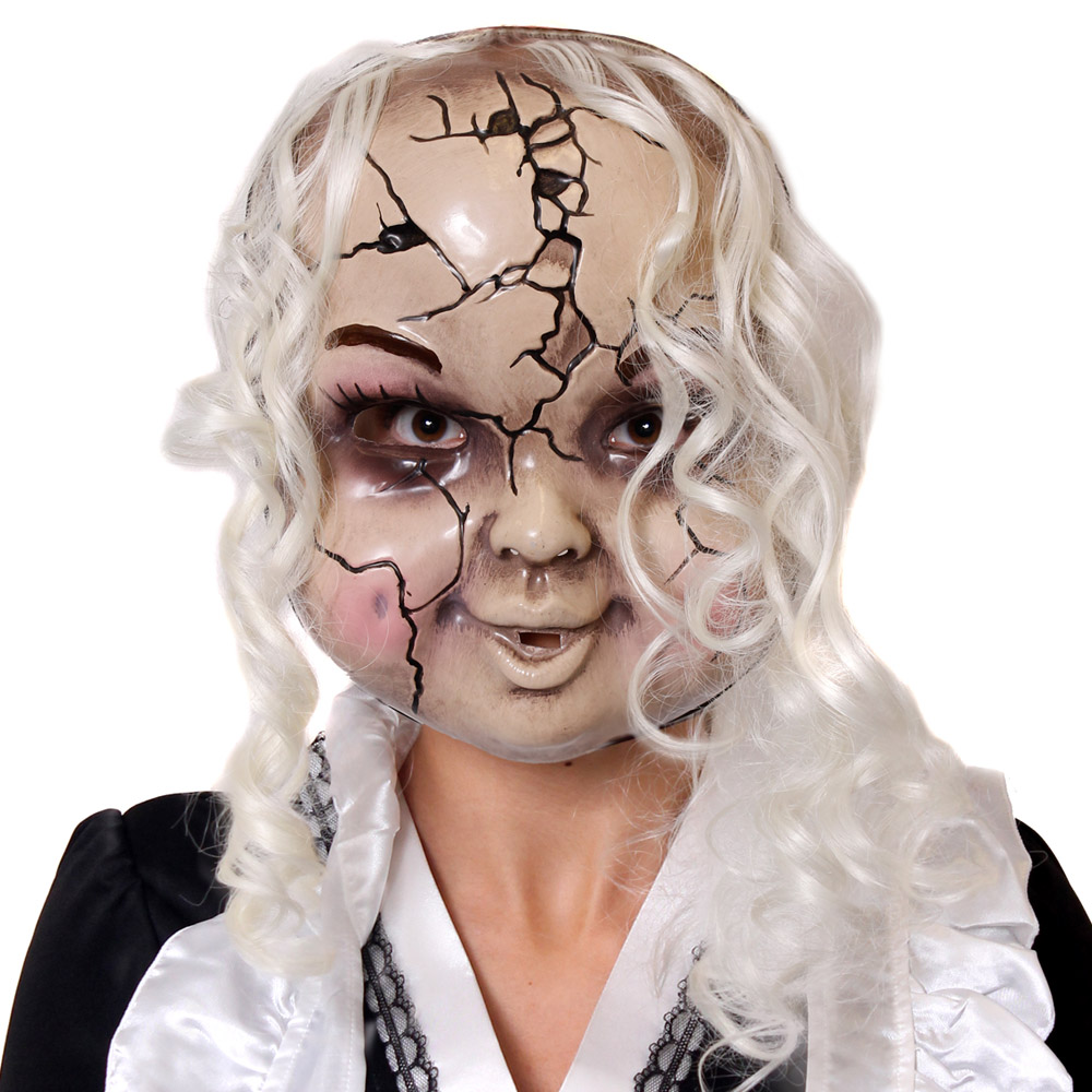 cracked porcelain doll mask - i love fancy dress