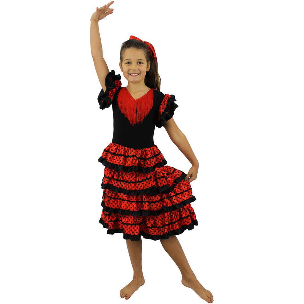 2230b2b21603 Girls Flamenco Costume - I Love Fancy Dress