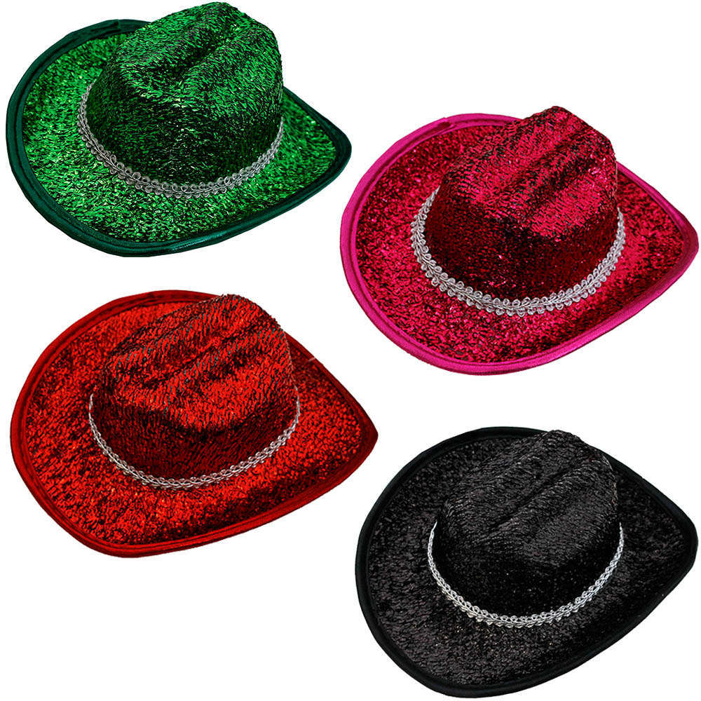 Mini Sparkling Cowgirl Hat - I Love Fancy Dress 88aa63257447