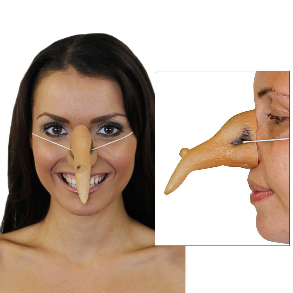 Witches Nose Flesh Halloween Horror Ladies Fancy Dress Costume Accessory