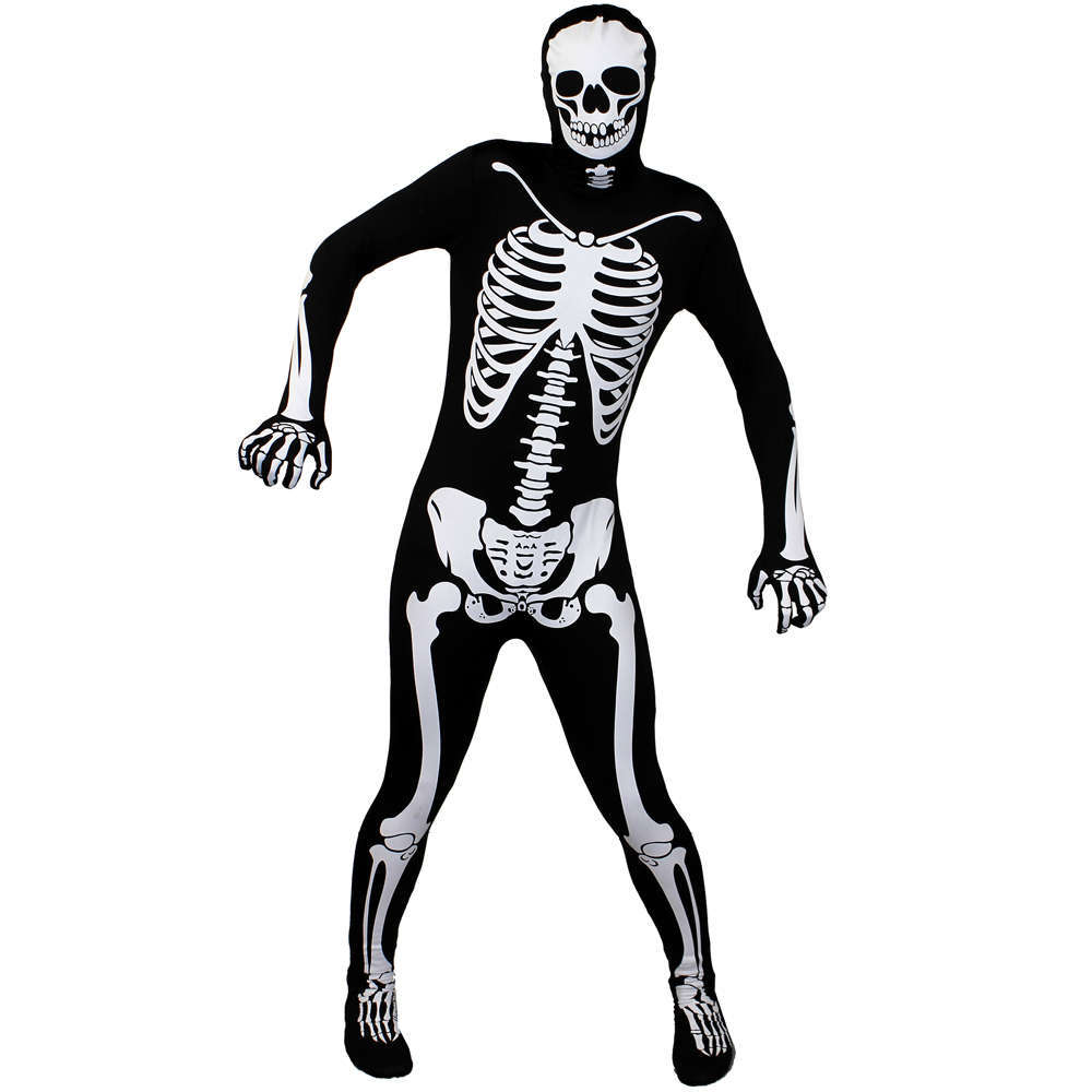 Adults Skeleton Skinsuit - Deluxe - I Love Fancy Dress