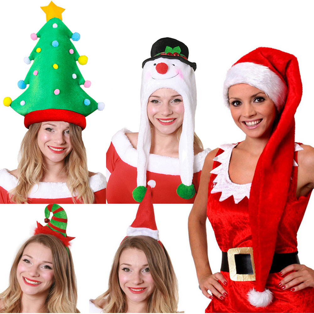 Ladies 5 Pack Christmas Hat - I Love Fancy Dress 7c5c81abd7