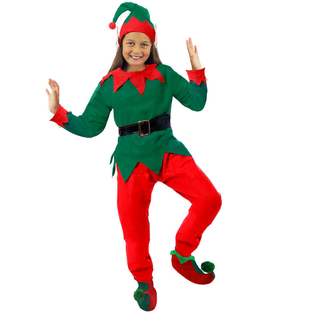 Girls 5 Piece Elf Costume  sc 1 st  I Love Fancy Dress & Costumes Beginning with E