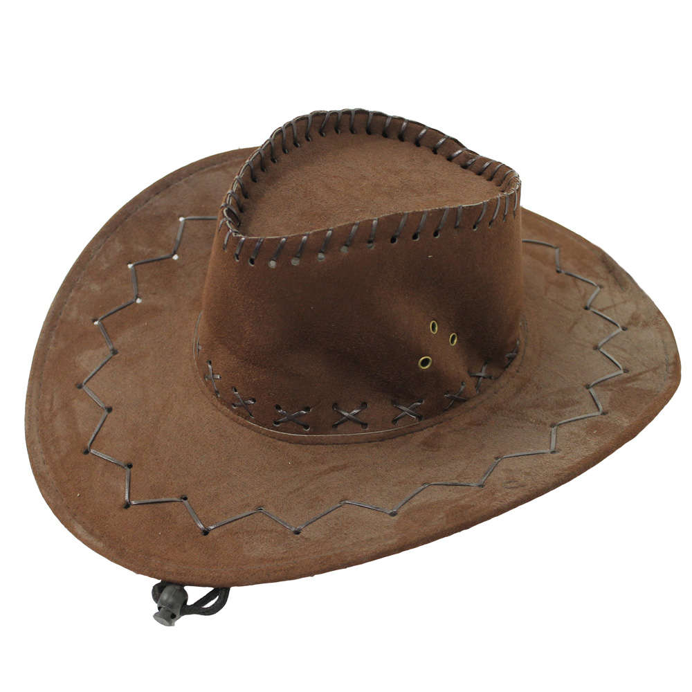 Brown Faux Suede Cowboy Hat - I Love Fancy Dress a3702188d32f