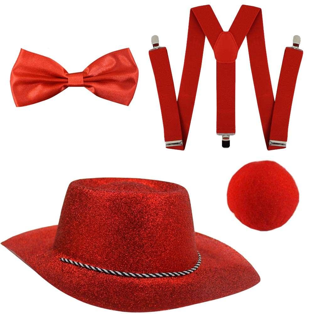 Red Nose Day Set - Glitter Cowboy Hat - I Love Fancy Dress 2eca202f7f1