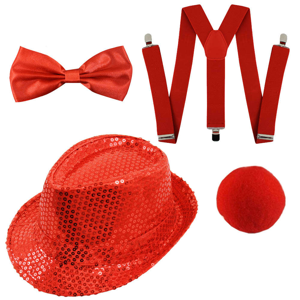 551131a7dd1 Red Nose Day Set - Sequin Fedora - I Love Fancy Dress