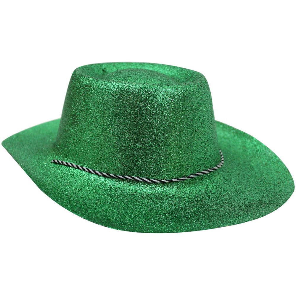 c3a5796d030 Green Glitter Cowboy Hat - I Love Fancy Dress