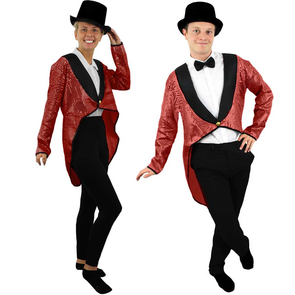 Unisex Red Sequin Tailcoat - I Love Fancy Dress bb65527bb23c
