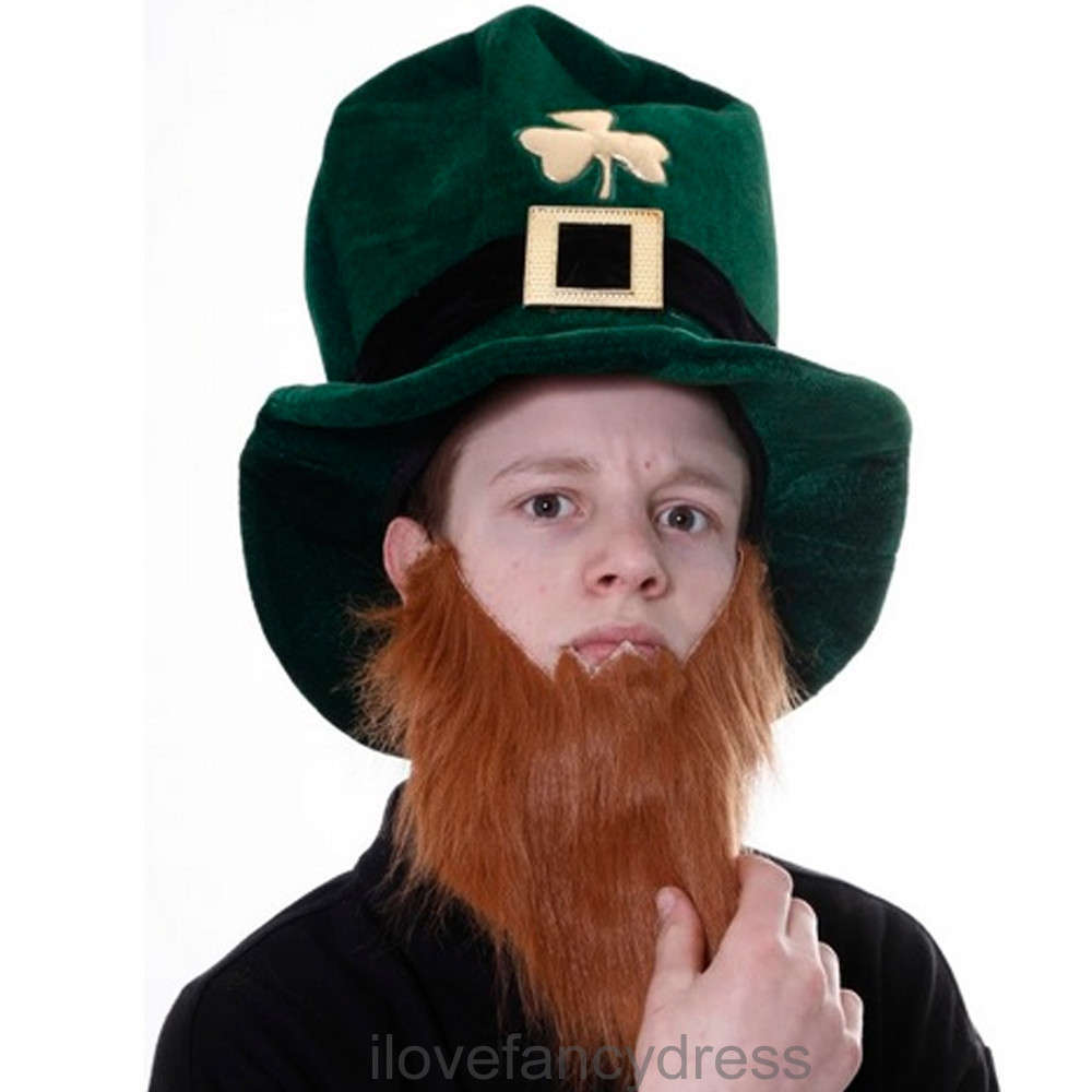 Irish Leprechaun Hat with Beard - I Love Fancy Dress 7646df33600