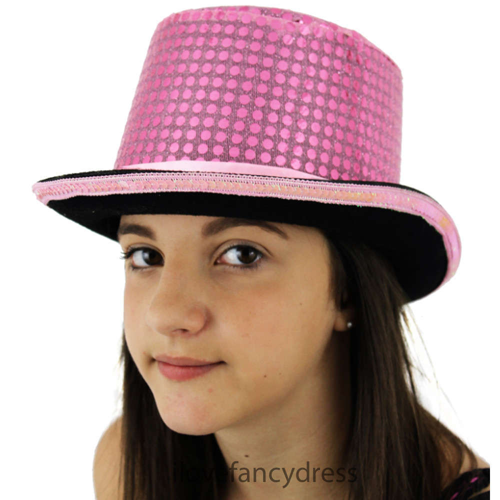 47c1aad62d42f Pink Sequin Cabaret   Victorian Ringmaster Top Hat
